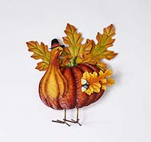 "13"" X 15"" STANDING METAL TURKEY"
