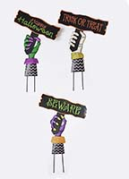 "24"" HAND HOLDING HALLOWEEN SIGN"