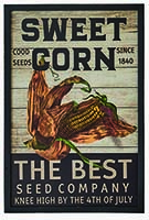 "19"" SWEET CORN WOOD SIGN"