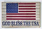 "18"" DISTRESSED GOD BLESS THE USA WOOD SIGN"
