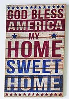 "18"" HOME SWEET HOME WOOD SIGN"