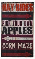 "20"" CORN MAZE WOOD SIGN"