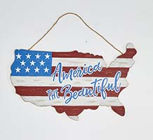 "11"" DISTRESSED USA AMERICANA MAP"