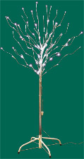 "51"" Outdoor Cool White Led Tree w/ Base - Close Out"