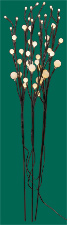 "31"" Led Flower Light X 3 Branch - Close Out"