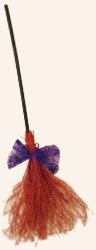 "39"" Wood & Glitter Twig Broom"