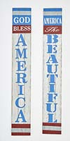 "47"" GOD BLESS AMERICA, AMERICA THE BEAUTIFUL SIGNS, 2 ASST"
