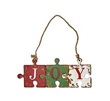 "18"" WOODEN JOY PUZZLE SIGN"