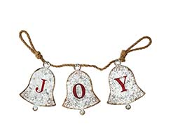 "35"" METAL JOY BANNER ON ROPE"