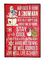 "18""X12"" SNOWMAN ADVICE WOOD SIGN"