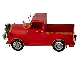 "16"" RED METAL TRUCK"