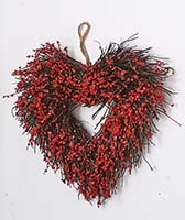 "11"" HEART WREATH"