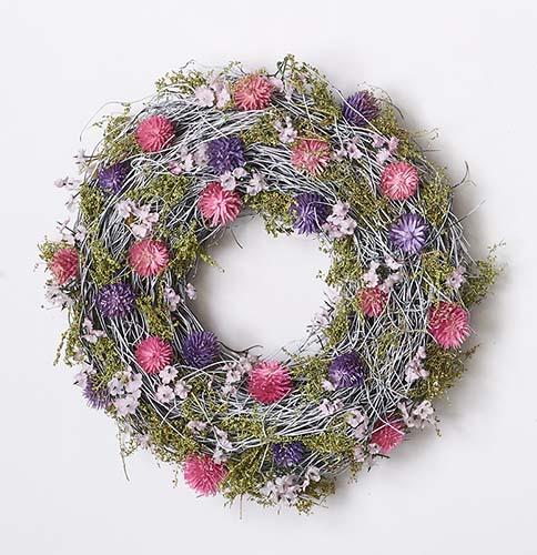 """11"""" TWIG WREATH W/WILD FLOWERS"""