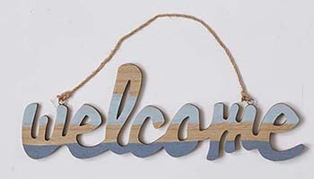 "16"" WOOD WELCOME SIGN"