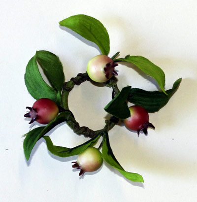 "1.5"" Rose Hip Candle Ring"