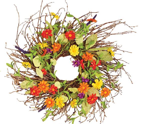 "24"" Multicolor Daisy Wreath"