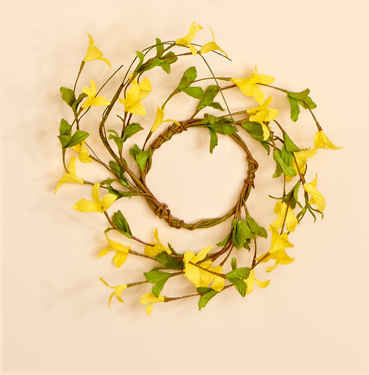 """3.25"""" Forsythia Candle Ring"""