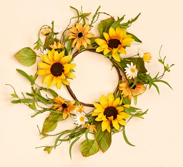 "16"" Sunflower Wreath"
