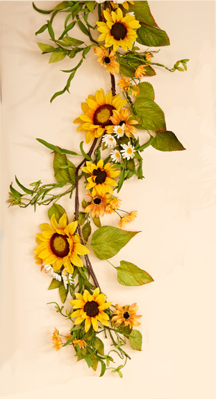 5' Sunflower Garland