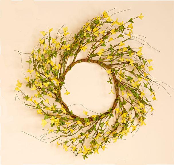"""22"""" Forsythia Wreath"""