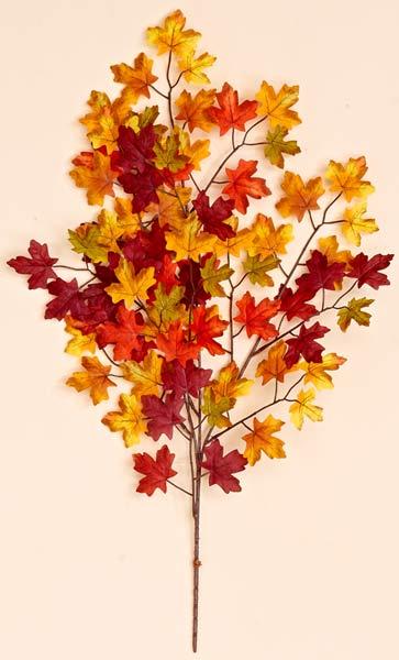 "27"" Mini Maple Leaf Spray w/ 75 Leaves"