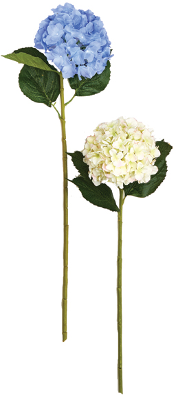 "32"" Single Hydrangea Spray with 7"" Flower Head"