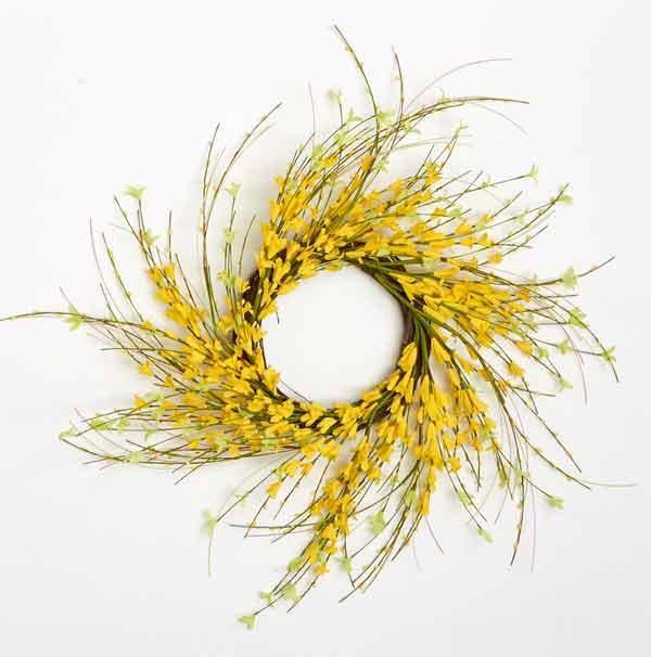 """24"""" Forsythia Twig Wreath"""