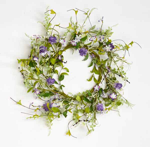"22"" Small Flower & Berry Wreath"