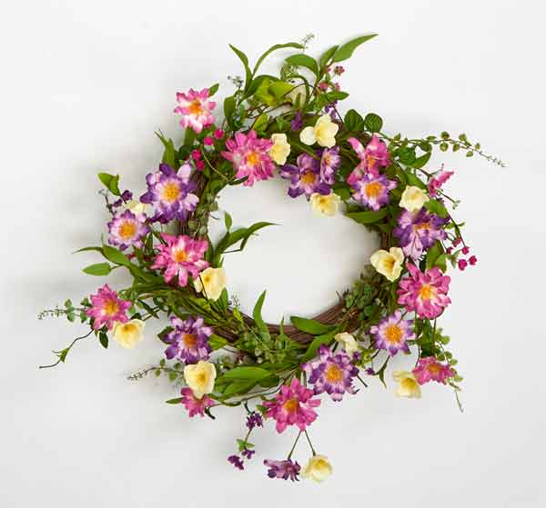 "22"" Wildflower Twig Wreath"