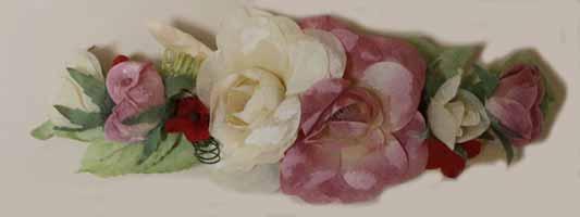 "8"" Rose Swag, Parchment - CLOSE OUT"