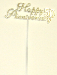 "11"" 50th Anniversary Flat Plastic Pick - SPECIAL PRICE"