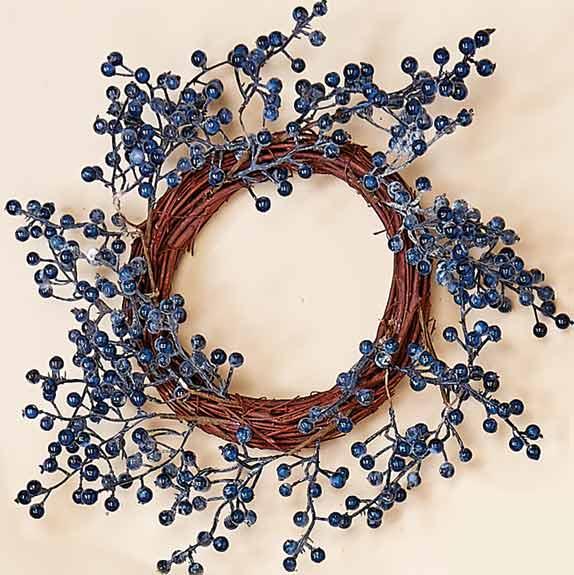 "12"" Weatherproof Blueberry Wreath"