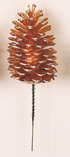 """5"""" Gold Pine Cone Pick"""