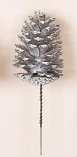 """5"""" Silver Pine Cone Pick"""