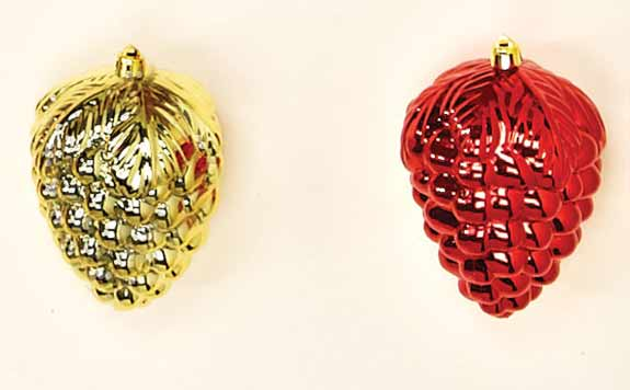 "3"" Plastic Shiny Grape Ornament -CLOSE OUT"