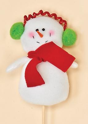 """4"""" Snowman on 7"""" Pick"""