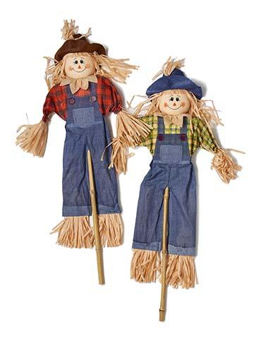 """48"""" Scarecrow On Stick"""
