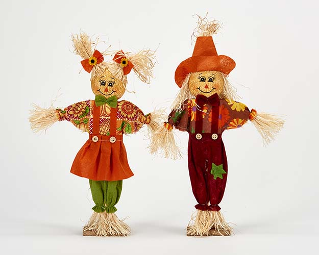 "16"" Standing Scarecrow, 2 Asst"