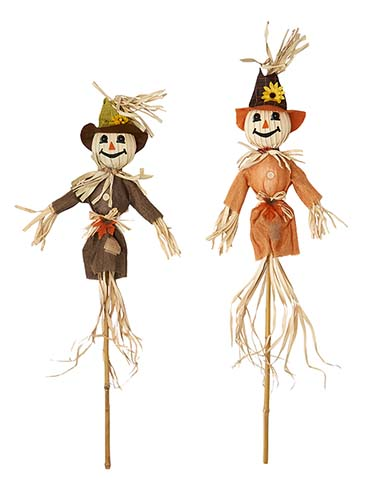 """48"""" Scarecrow On Stake, 2 Asst"""