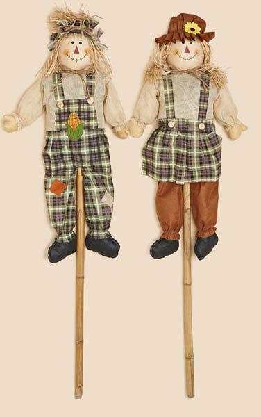 "60"" Scarecrow on Pole"