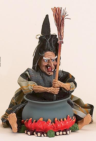"""10"""" Witch Stirring Cauldron w/ Sound"""