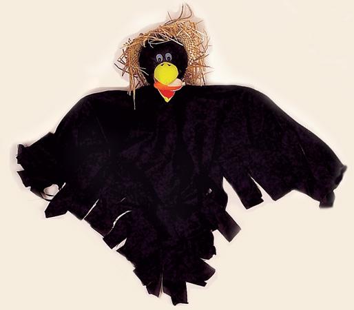 """22"""" Hanging Crow Eating Corn"""