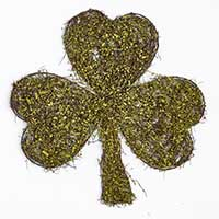 "16"" X 15"" X 1"" Hanging Shamrock Decor"