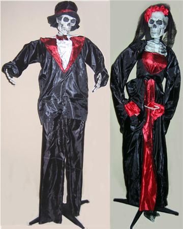 """63"""" Standing Ghoul Groom & Bride"""