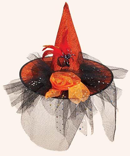 Orange Decorated Witch Hat