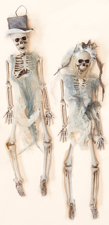 "16"" Skeleton Bride & Groom"