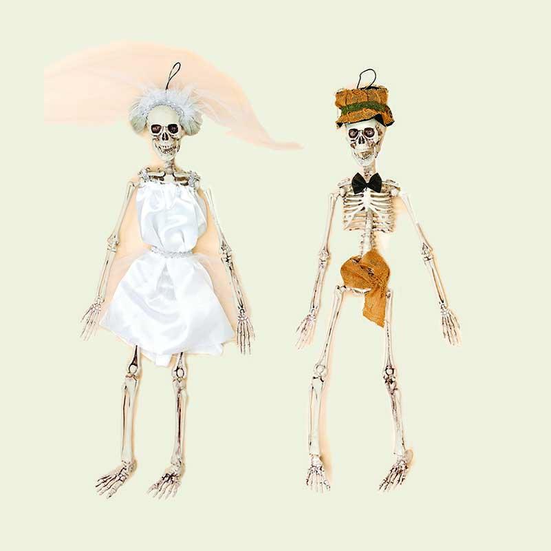 """20"""" Skeleton Bride & Groom"""