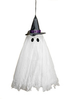 "31"" LED Multicolor Flashing Hanging Ghost with Sound"