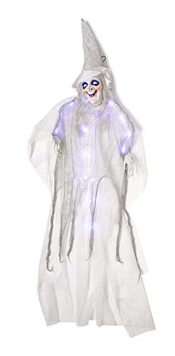 "72"" LIGHT UP WHITE HANGING WITCH"