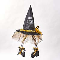 "28"" HANGING WITCH HAT W/LEGS"